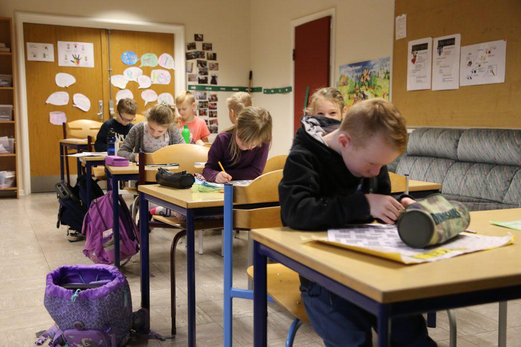 Eleverne i Herkules arbejder koncentreret