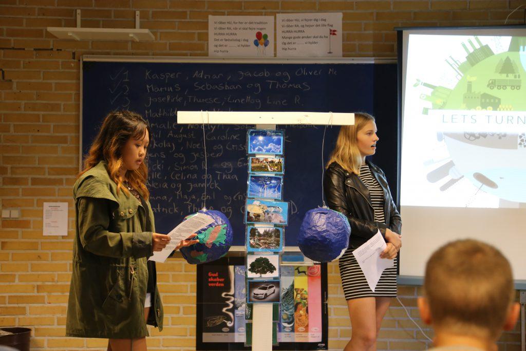 Projektpræsentation af elever fra Pegasus