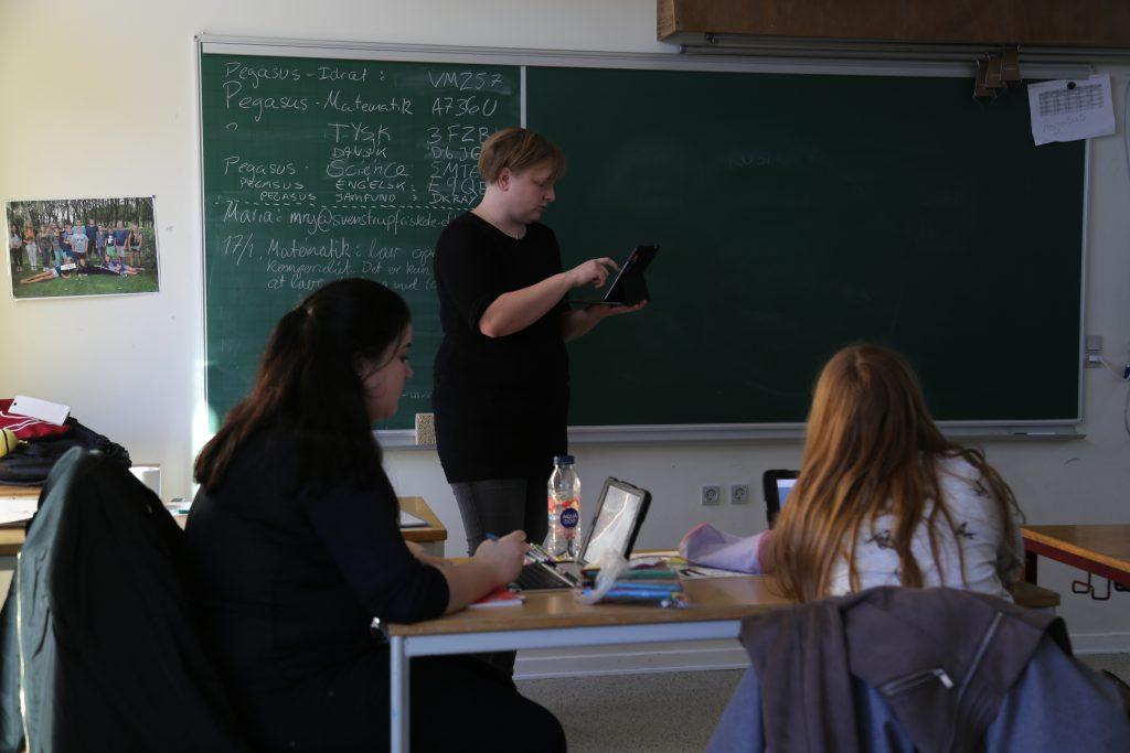 Undervisning hos de store elever i Pegasus