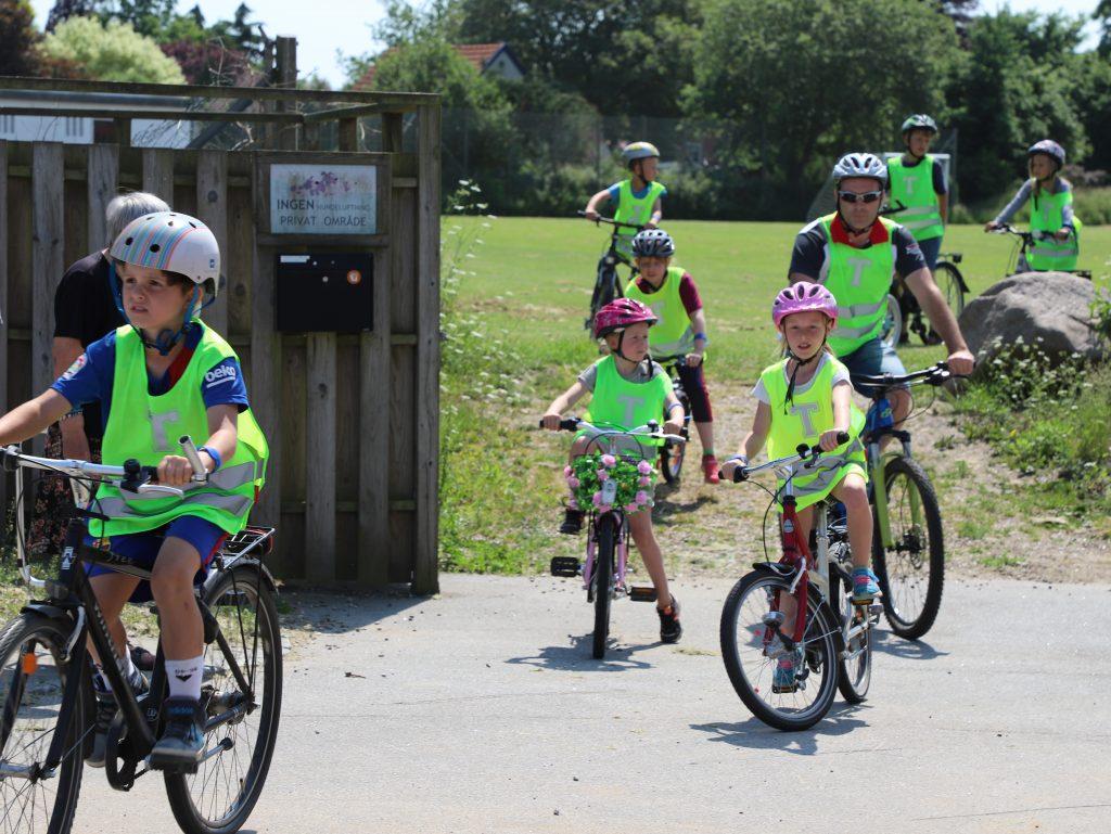 Både forældre og elever var aktive på cyklen