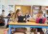 Eleverne i Lyra arbejder koncentreret